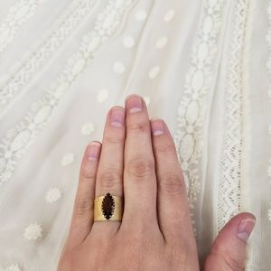 vintage Sarah Coventry amber ring